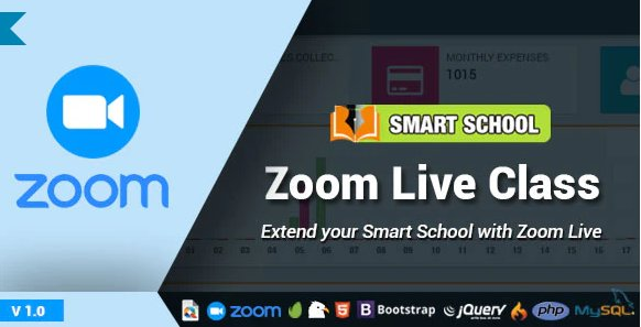 Smart School Zoom Live Class v2.0 Nulled