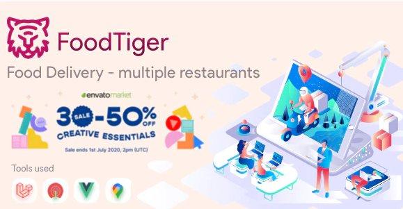 FoodTiger - Food delivery - Multiple Restaurants v1.5.0