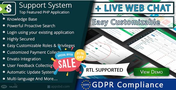 Best Support System-Live Web Chat & Client Support Desk & Support Ticket Help Centre v2.2.2