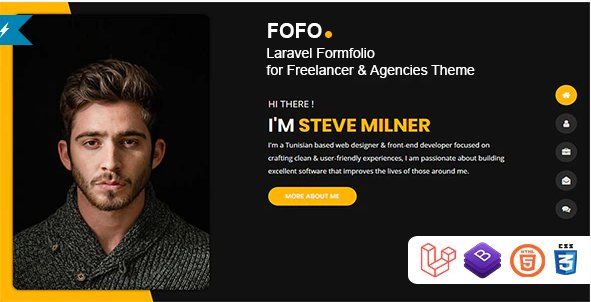 Fofo - Laravel Formfolio for Freelancers & Agencies Theme v1.0.2