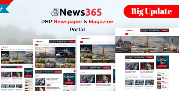 News365 – PHP Newspaper Script Magazine Blog with Video Newspaper v6 Nulled