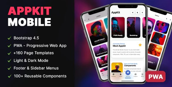 AppKit Mobile HTML templates