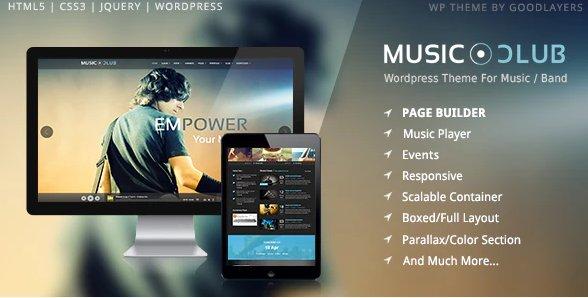 Music Club - Band Party Wordpress v1.8.1