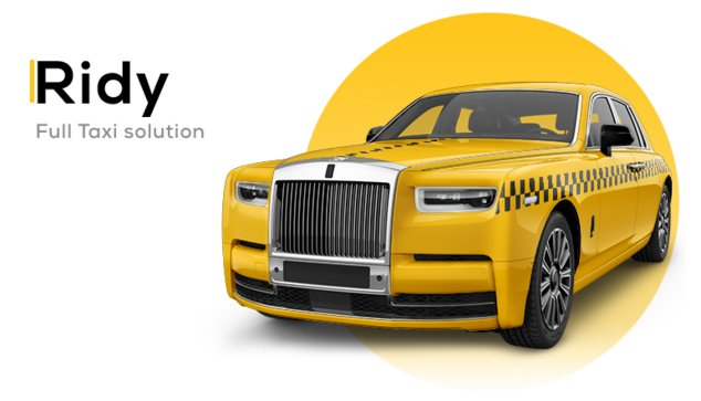Ridy - Taxi Application Android & iOS + Dashboard v3.3.1