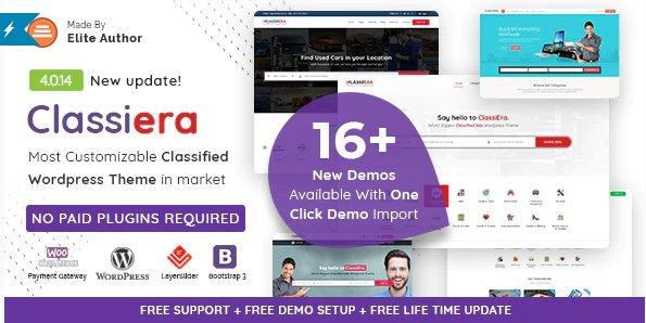 Classiera – Classified Ads WordPress Theme v4.0.14