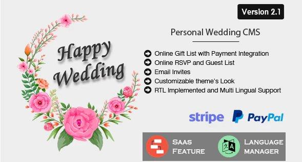 Happy Wedding - Personal Wedding & Invitation CMS v2.1