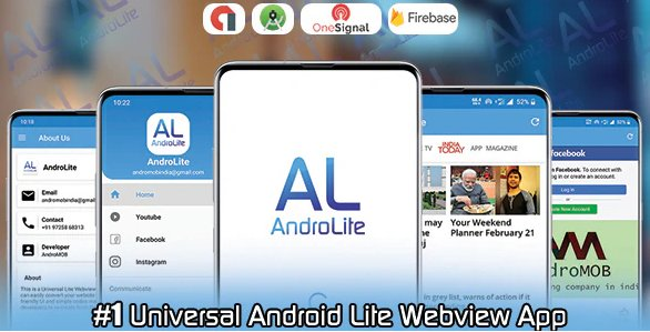 AndroLite - Easy Configurable Android WebView App Template v1.0