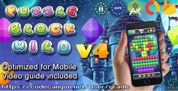 Puzzle Block Wild V4 (Admob + GDPR + Android Studio)