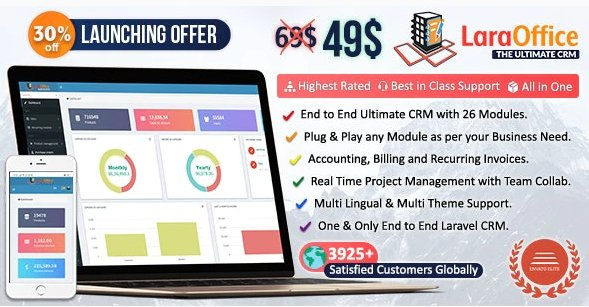 LaraOffice Ultimate CRM and Project Management System v3.2 Nulled