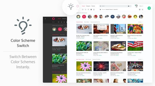 Circle Video Sharing Website HTML Template