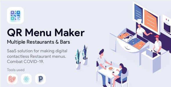 QR Menu Maker - SaaS - Contactless restaurant menus v1.5.5 Nulled